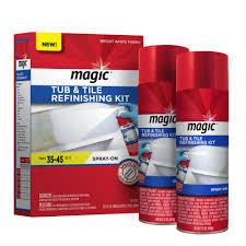 Bathtub Reglaze Kit Magic 17 Oz Bath Tub And Tile Refinishing Kit In White 3020 The