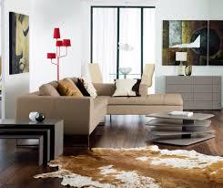 modern home interior design beige leather sofa living room