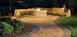 Stone Patio With Fire Pit Fire Features U2013 Kenneth Watson Design