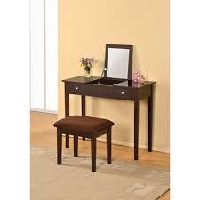 Mirror Vanity Furniture Lydney Flip Open Mirror Vanity Table And Stool Espresso Sam U0027s Club