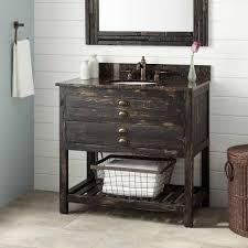 diy vintage tall wood bathroom storage cabinet using reclaimed