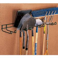 heavy duty tool hanger four place garage organization from