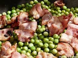 cuisiner des petit pois surgel pois au beurre et bacon croustillant façon oliver