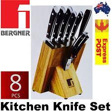 bergner bayern forged german steel 8 piece kitchen knife set