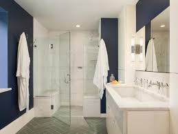 Dark Brown And White Bathroom - navy and white bathroom decor dark wall tile wall mount shower