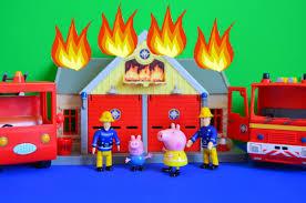 fireman sam episode peppa pig saves fire engine