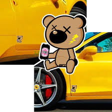 jdm sticker 1pc funny sticker dizzlion drunk jail bear jdm sticker decal drift