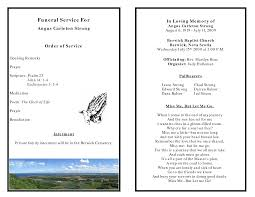 Funeral Programs Order Of Service Funeral Homes Plan Delivery Of Services On Five Elements With The