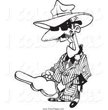 gangsta coloring pages vector coloring page of a black and white grinning gangster
