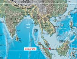 Singapore Map Asia by Singapore Map