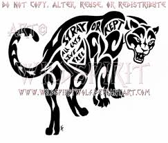 another cool idea all cats live free tribal panther
