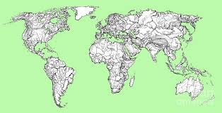 world map image drawing world map in pistachio green drawing by adendorff design