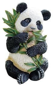 tian shan the panda sculpture asian garden statues and yard
