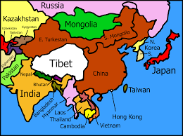 Map Of Nepal And Tibet by Clipart Tibet And Its Neighbors Map