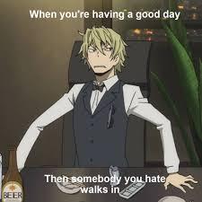 Durarara Meme - pin by natalie salazar on durarara pinterest durarara anime