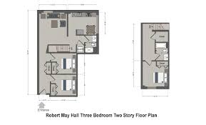 Two Story Floor Plan Robert May Hall Slu