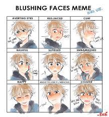 Blush Meme - blush meme hiro tomuro by rochichan on deviantart