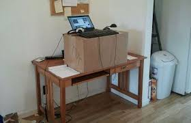standing desk add on is a low cost way to stand at work treehugger