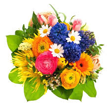Beautiful Bouquet Of Flowers Beautiful Bouquet Of Colorful Spring Flowers Stock Photo Colourbox