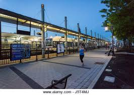 hudson bergen light rail schedule the train schedule in the nj transit station in penn station in new