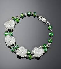 flower silver bracelet images Flower bracelet wedding bracelet silver flower lynncobb jpg