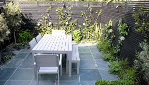 Modern Garden Table And Chairs Small Modern Garden Design For Urban Garden In London With