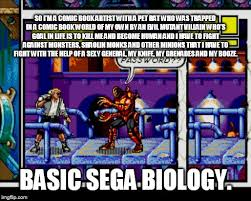 Meme Zone - basic sega biology meme 3 comix zone by trc tooniversity on deviantart