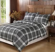 grey plaid flannel duvet cover home design ideas