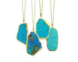 long turquoise pendant necklace images Turquoise necklace etsy jpg