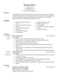 examples of restaurant resumes cover letter cv examples