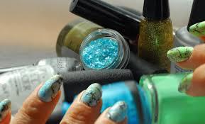 gemstones marbled perfumed nail art seasonails