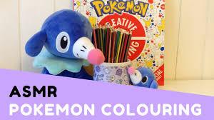 asmr colouring pokemon colouring book pencil crayons