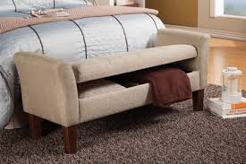 Foot Of Bed Storage Bench Beige Fabric Storage Bench Steal A Sofa Furniture Outlet Los