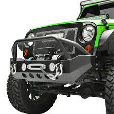 jeep yj rock crawler jwm 4x4 front bumper with winch plate for jeep wrangler jk u2013 jwm4x4