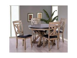 Dining Room Table And Chair Sets Elements International Laramie Rustic Round Table And Chair Set