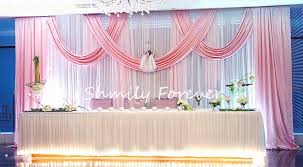Pink And Teal Curtains Decorating Backdrops For Weddings Pink Wedding Backdrop Curtain With