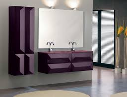 Gray And Purple Bathroom by Industrial Bathroom Vanities And Other Style Luxury Bathroom Design