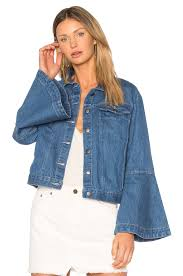 light wash denim jacket womens edit flute sleeve denim jacket light wash women collection cheapest