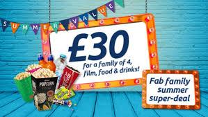odeon cinema summer deals for families skint