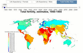 World Map 1950 Super Cool World Map Shows Fertility Rates As Africans Breed Like