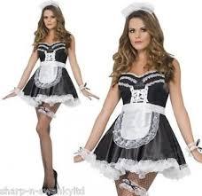 Rocky Horror Halloween Costume Ladies French Maid Rocky Horror Valentines Fancy Dress