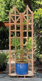 amazon com arboria deco garden trellis cedar wood 70 inch height