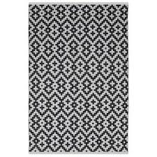 Outdoor Rug 6 X 9 6 X 9 Black And White Rugs Fab Habitat Samsara Black White
