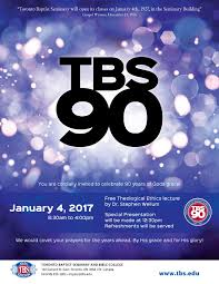 Bible College Acceptance Letter toronto baptist seminary tbs 90th celebration