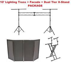 dj lighting truss package 10 lighting truss stage lighting stand black dj facade dual tier