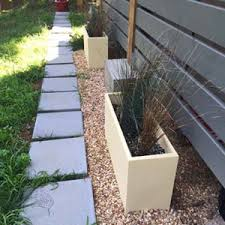 modern outdoor planters large rectangular contemporary pvc planters