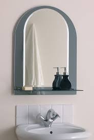 Bathroom Mirror Design Ideas by Round Bathroom Mirror With Wood Frame Vanity Decoration