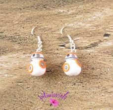 wars earrings wars bb8 earrings polymer clay bb8 fimo wars