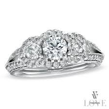 Vera Wang Wedding Rings by 4 Engagement Rings From Vera Wang U0027s Zales Collection U2014all Less Than