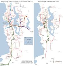 Seattle Bus Route Map by King County Fast And Frequent Transit In 2040 If St3 Passes Vs